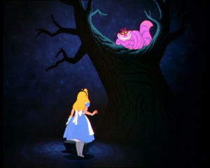 """Which road do I take, she asked?"" ""Where do you want to go?"" responded the Cheshire Cat. ""I don't know,"" Alice answered. ""Then,"" said the cat, ""it doesn't matter!"""